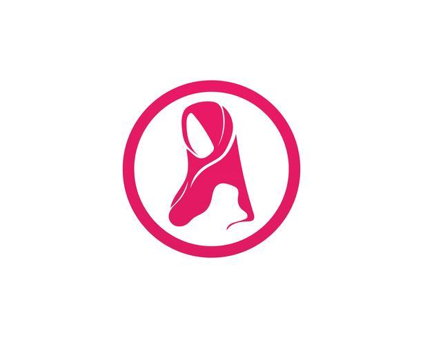 símbolo de vetor preto hijab