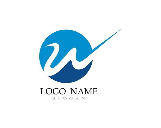 W-logo en symbool zakelijke vectoren