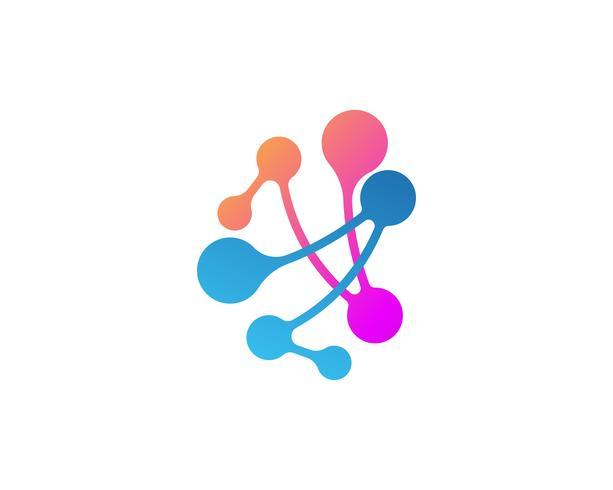 Molekyl vektor illustration design