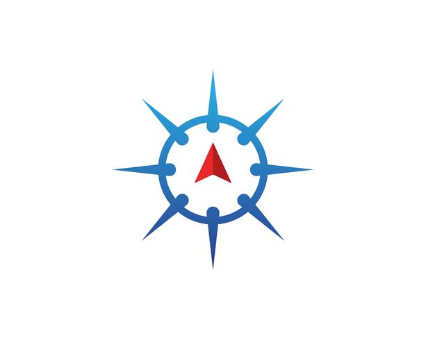 Diseño del ejemplo del icono del vector de la plantilla del logotipo del compás