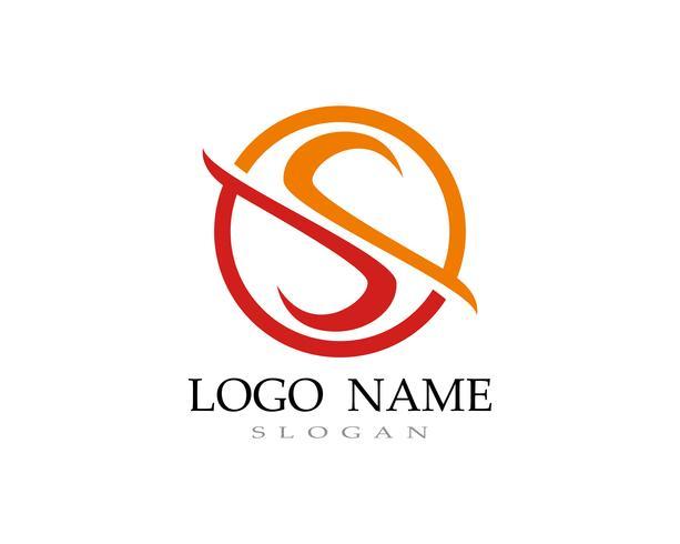 S logo vector line template font