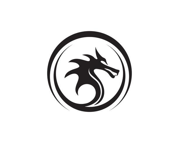 Dragão icon ilustração vetorial