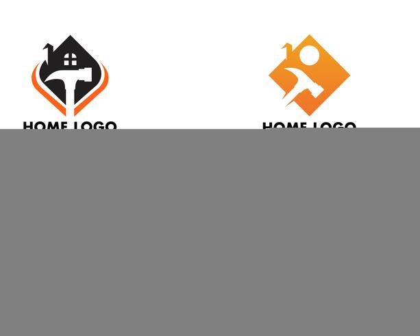 Logotipo y plantilla de reparación de hogar vector símbolo