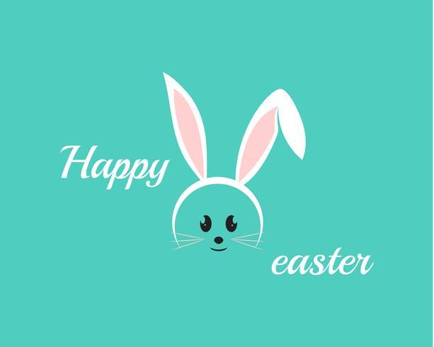 Joyeux lapin de Pâques en arrière-plan