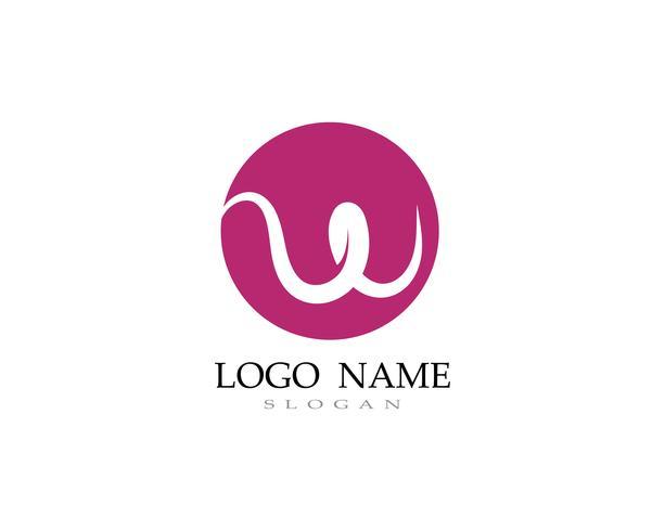 W Logo und Symbol Geschäftsvektoren