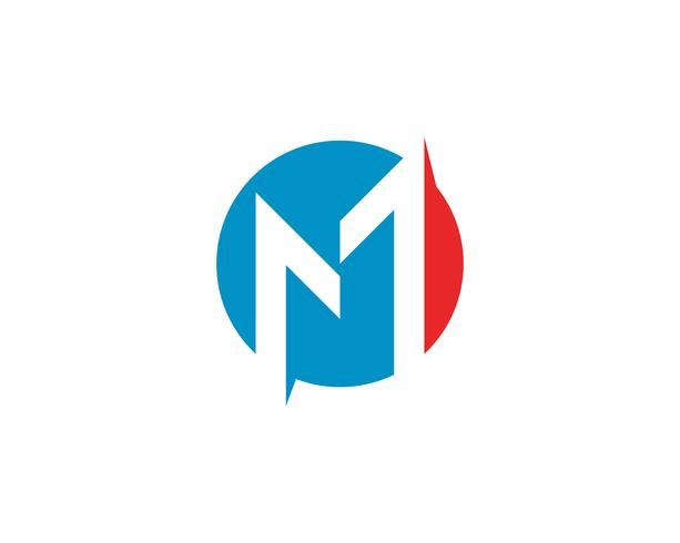 M brief Logo sjabloon