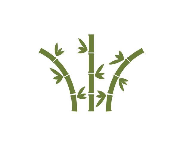 Icono de vector de plantilla de logotipo de bambú