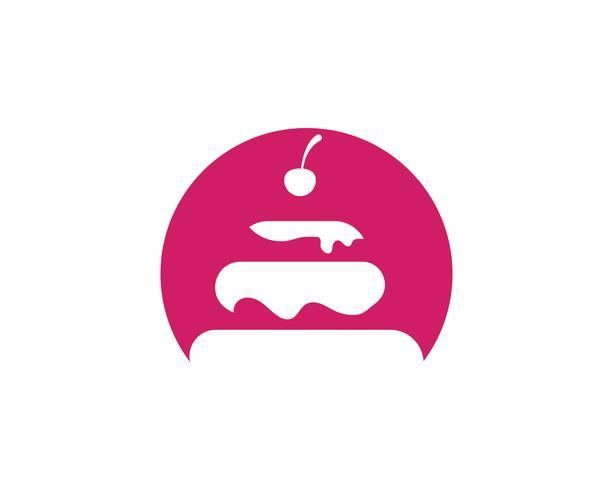 Kuchen Illustration Logo Vektor Vorlage Essen