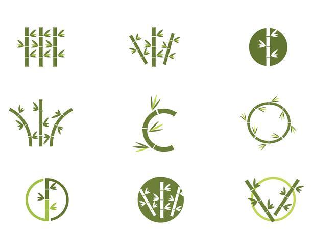 Bamboo Logo Template vector icon