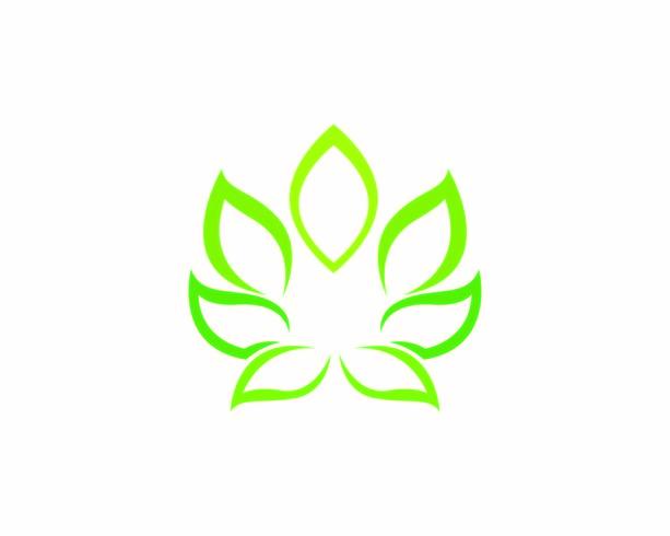 Logoer av grön trädblad ekologi