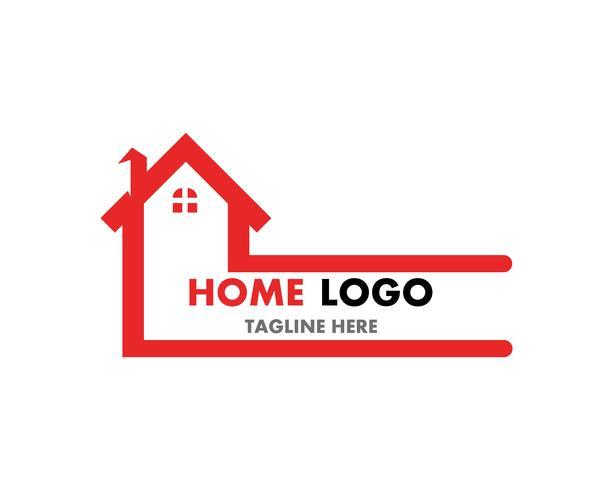 Hem reparation logotyp vektor mall och symbol