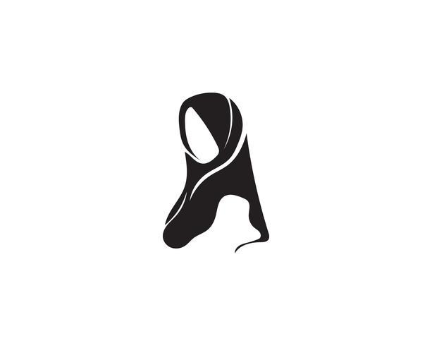 hijab vector zwart symbool