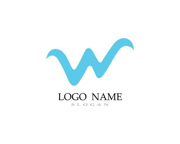 Logotipo W e vetores de negócios símbolo