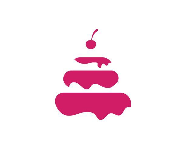 pastel ilustracion logo vector plantilla alimentos