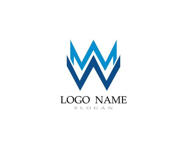 W logo e simboli di business dei simboli