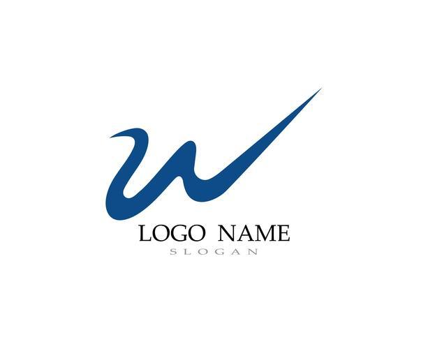 W-logotyp och symbolverksamhetsvektorer