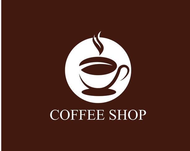 Xícara de café logotipo modelo