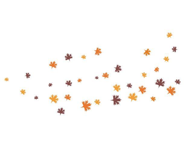 autumn leaf logo vector icons