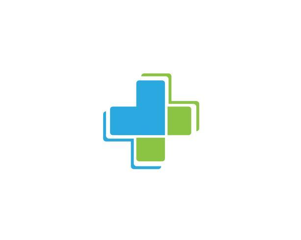 Logo de l'hôpital et symboles modèle vecteur icônes