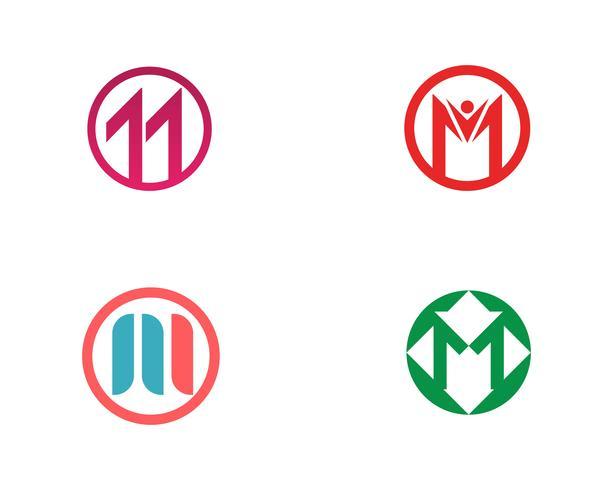 Modèle de logo de lettre M vecteur