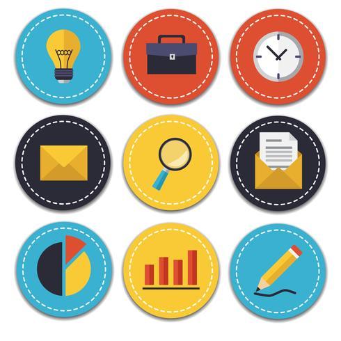 Set di icone di affari e ufficio