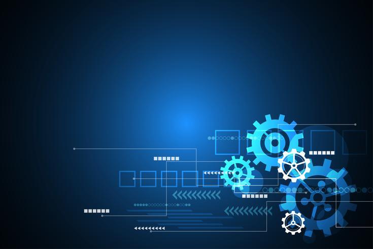 Vector de fondo abstracto la innovación tecnológica del futuro.