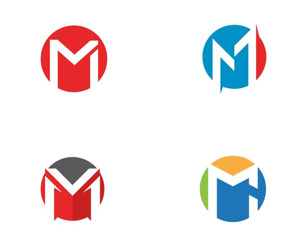 Plantilla de logotipo de letra M