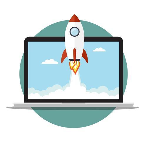 Rocket on the laptop
