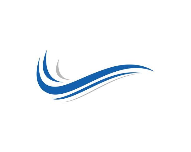Vector icono de onda de agua