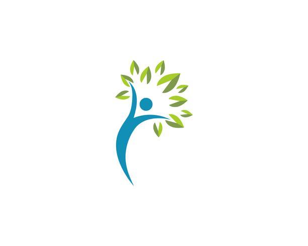 Signe de logo de personnage humain