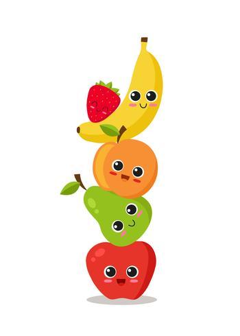 Süße Früchte gestapelt