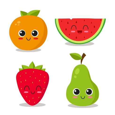 Conjunto de frutas frescas