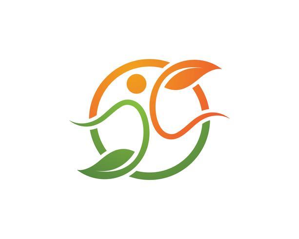 Signo de logotipo de carácter humano vector