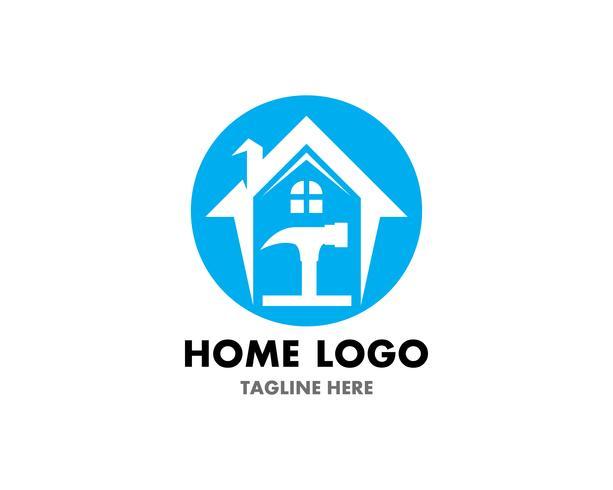 Modelo de vetor de logotipo de reparo em casa e símbolo