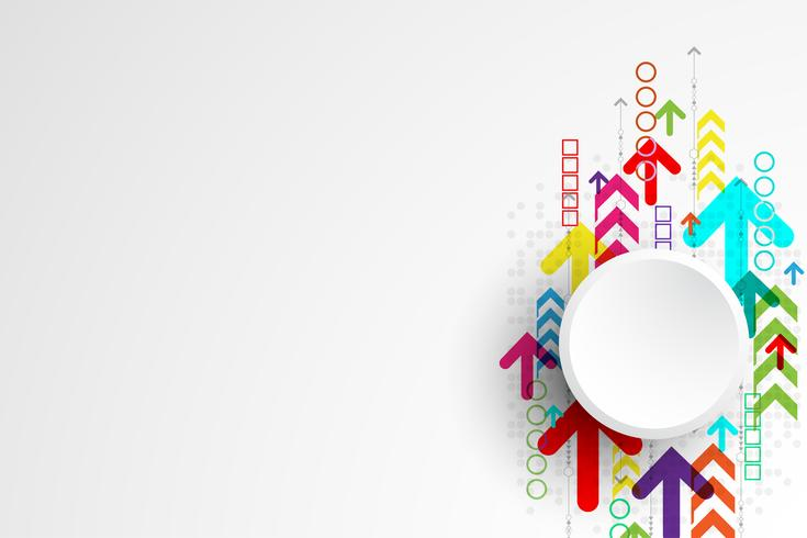 Vector abstract background technology arrow concept.
