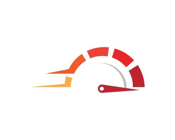 Icona di vettore del modello di logo più veloce