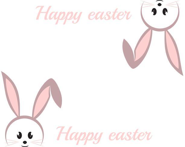Feliz conejo de Pascua en vector de fondo