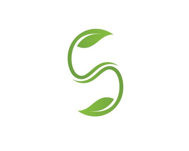 Logos de l'écologie des feuilles d'arbres verts