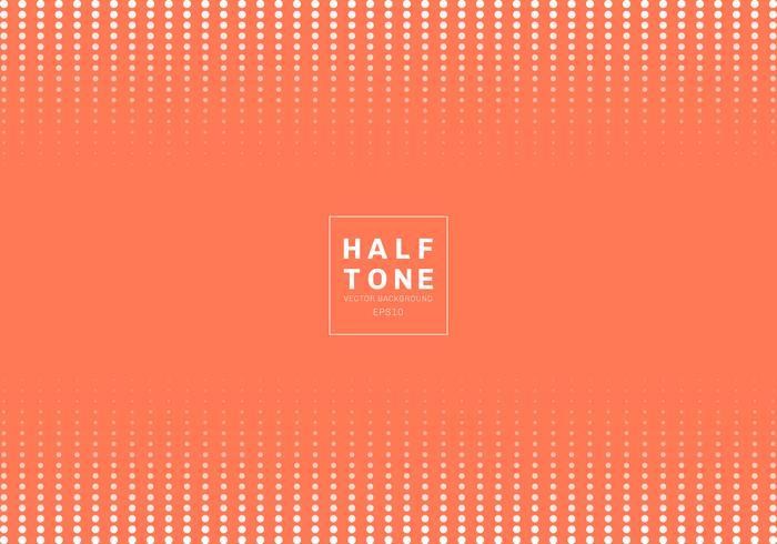 Zusammenfassung des orange Hintergrundes des weißen Punktmusterhalbtonkonzeptes des Entwurfes mit Raum fot Text. Kopf- und Fußzeilen des Layouts der Dekorationswebsite sowie Broschüre, Poster, Bannernetz, Karte usw.