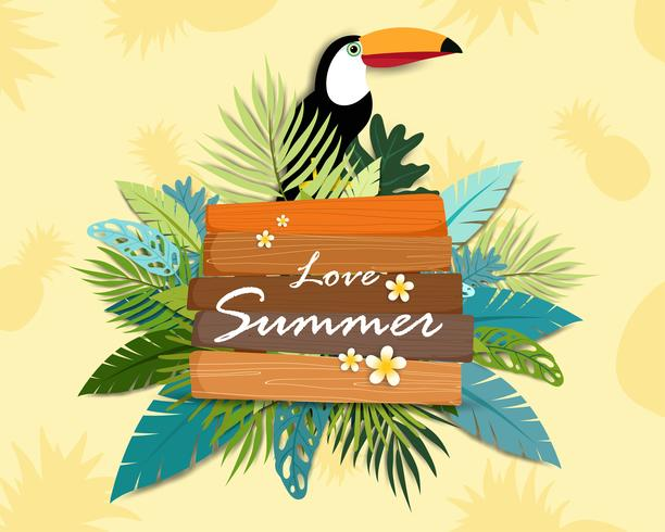 Bella estate banner e poster carta