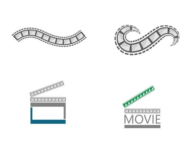 diseños de ilustración de plantilla de vector de tira de película
