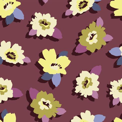 Abstraktes nahtloses mit Blumenmuster. vektor