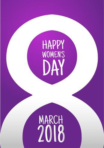 8 marzo Design internazionale della Giornata della donna