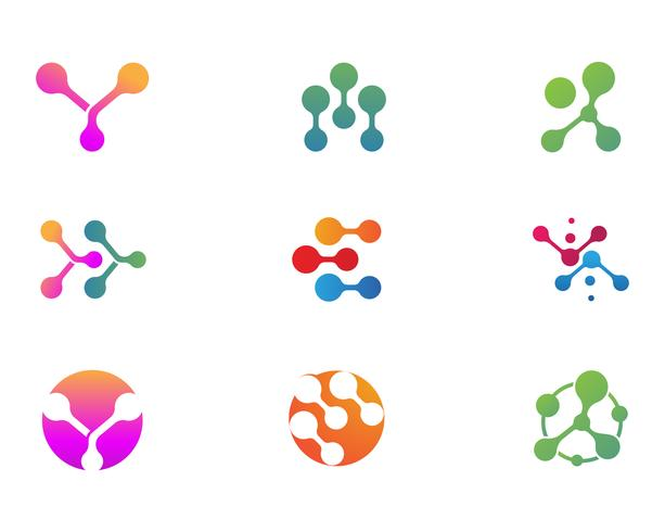 Projeto de ilustração vetorial de molécula