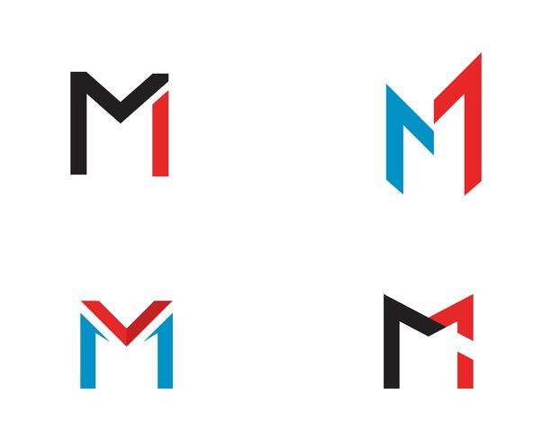 M Brief Logo Vorlage