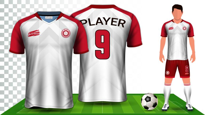 Soccer Jersey and Football Kit Presentation Mockup Template. vector