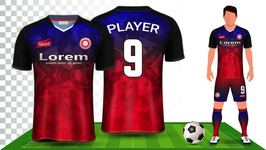 Soccer Jersey and Football Kit Presentation Mockup Template. vector