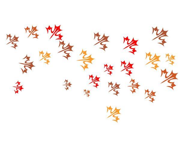 herfst blad logo vector iconen