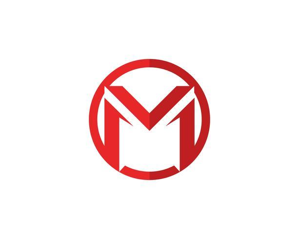 Plantilla de logotipo de letra M vector