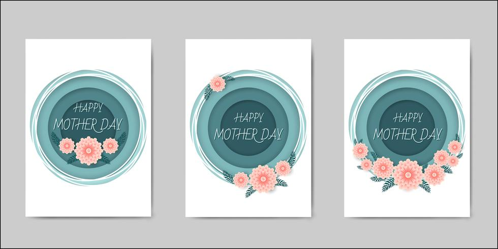 Happy Mothers Day belettering wenskaarten